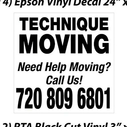 Technique Moving LLC