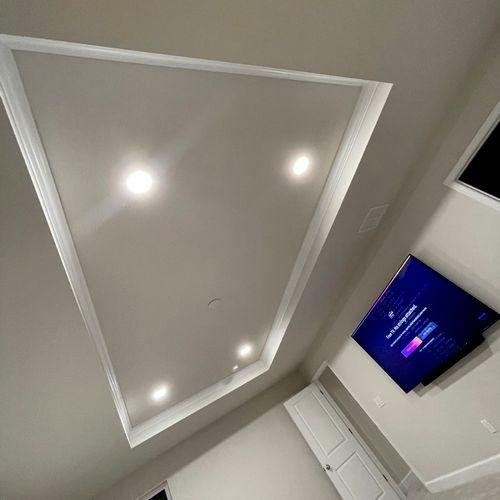 New Recessed Lighting Installation