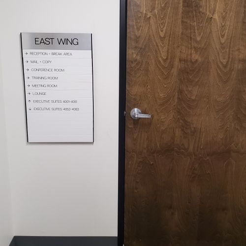 Once you go through the East Wing entrance, turn left after the door for Suite 4007.