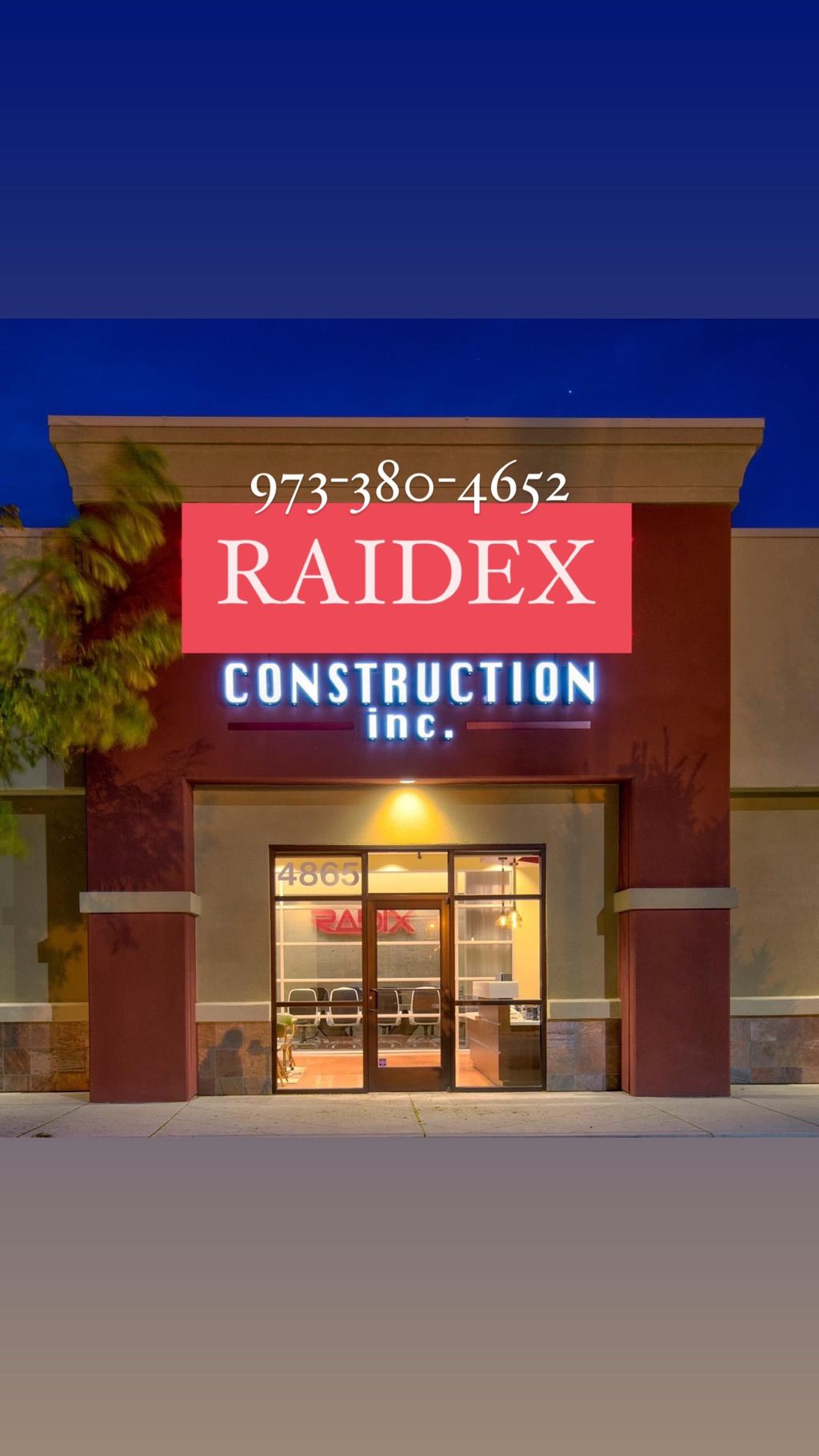 RAIDEX CONSTRUCTION LLC