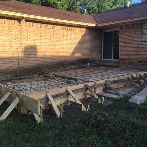 Add-On Addition to a Home (Concrete Frame/Rebar)