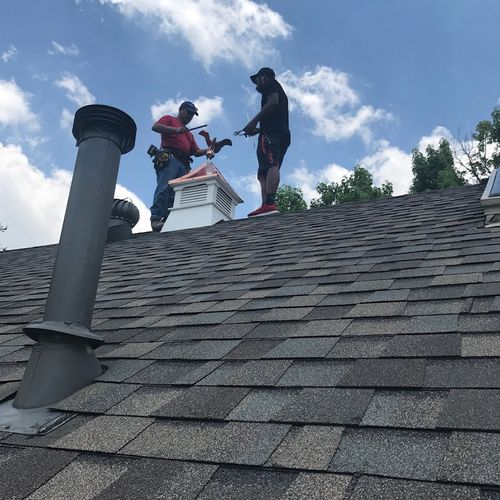 Roofing Completed (Final Touches) {EAGLE EYE VIEW)