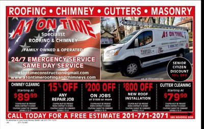 Avatar for A1 ON TIME ROOFING AND CHIMNEY LLC