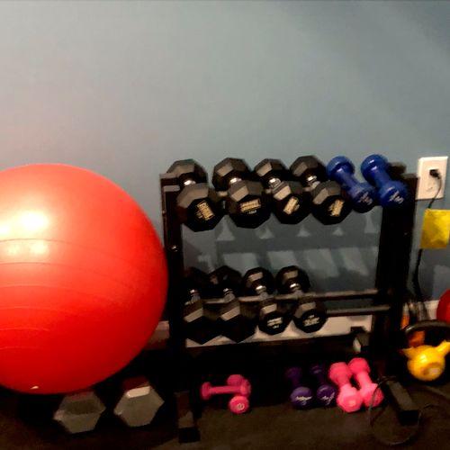 RVC - weights, kettlebells and balls