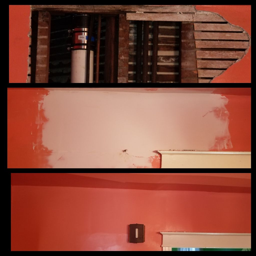 Wall and ceiling repair with color matching