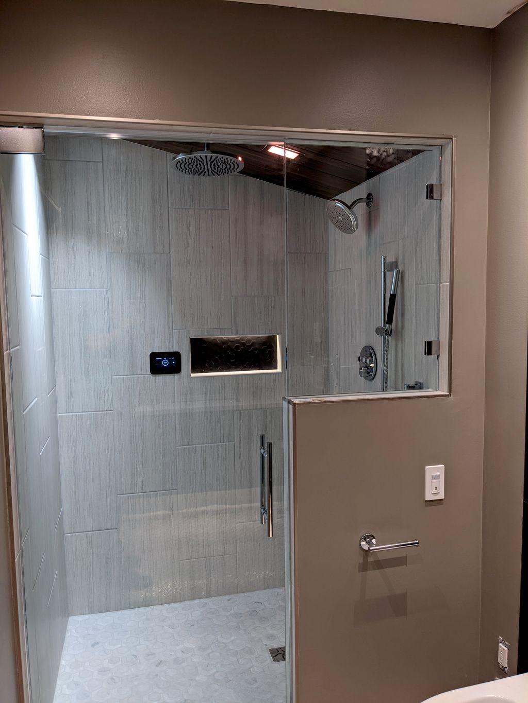 Spa bathroom, steam shower
