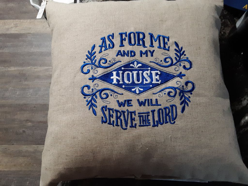 Embroidery - For me and my house