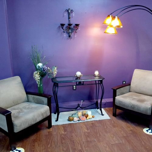 Relaxing waiting area