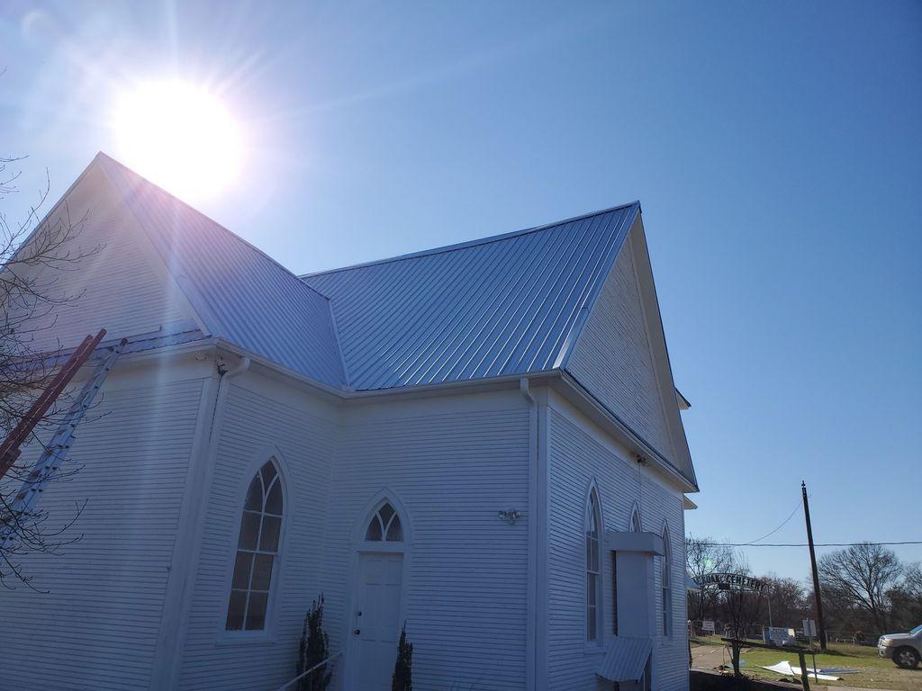 New Metal Roof On Historic Landmark