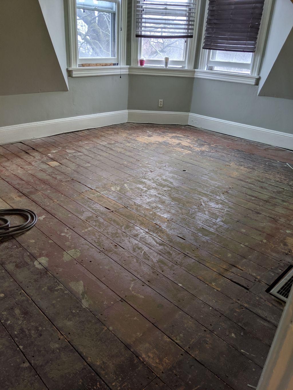 120 Year Old Hardwood Floors Refinished