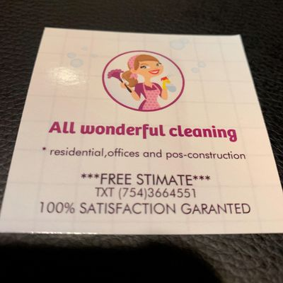 Avatar for All Wonderful Cleaning Services