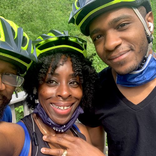 Excellent cycling family workout!