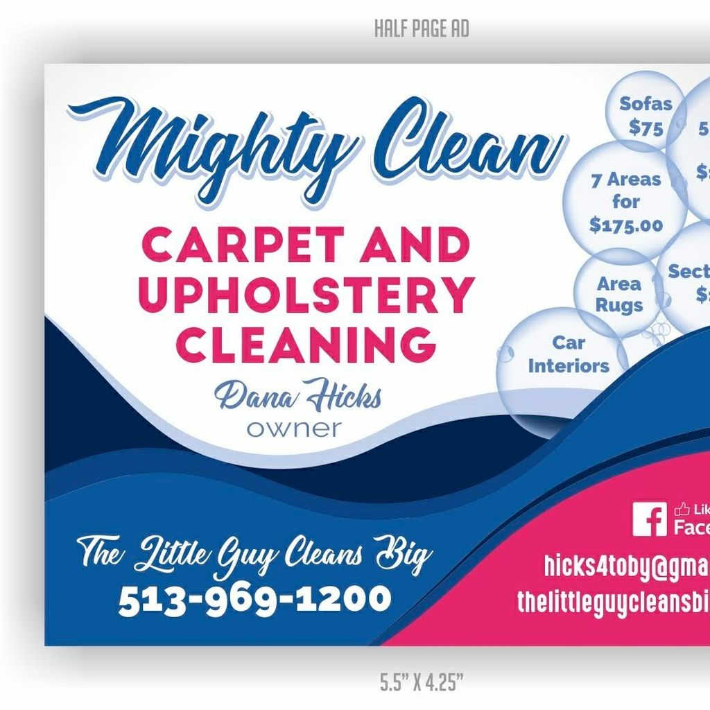 Mighty Clean carpet and upholstery