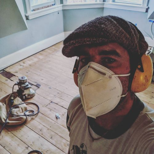 that's me, the second generation floor guy for Wall Street Wood Floors.