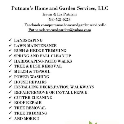Avatar for Putnams home and garden services llc