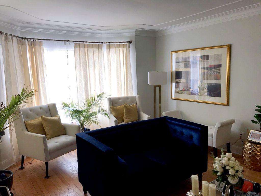 Detroit Residence -Living Room Design