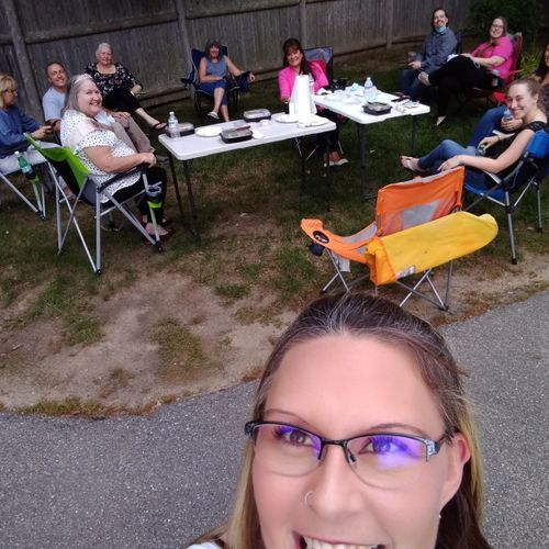 The Pater Team Social distancing in our parking lot to celebrate Heather's 70 Birthday! Happy Birthday Heather!