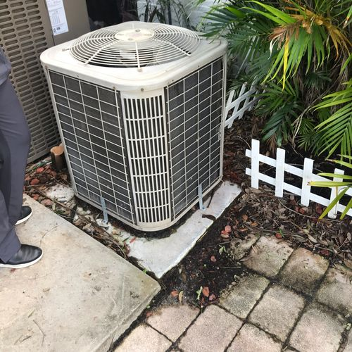 Existing Condensing unit at the home