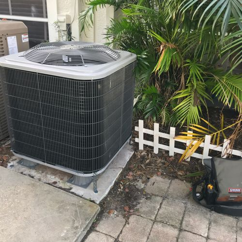 New Condensing Unit installed