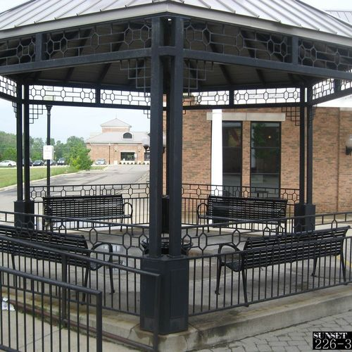 Steel Cover with metal roof