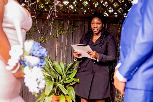 Wedding Officiant - Bloomingdale 2020