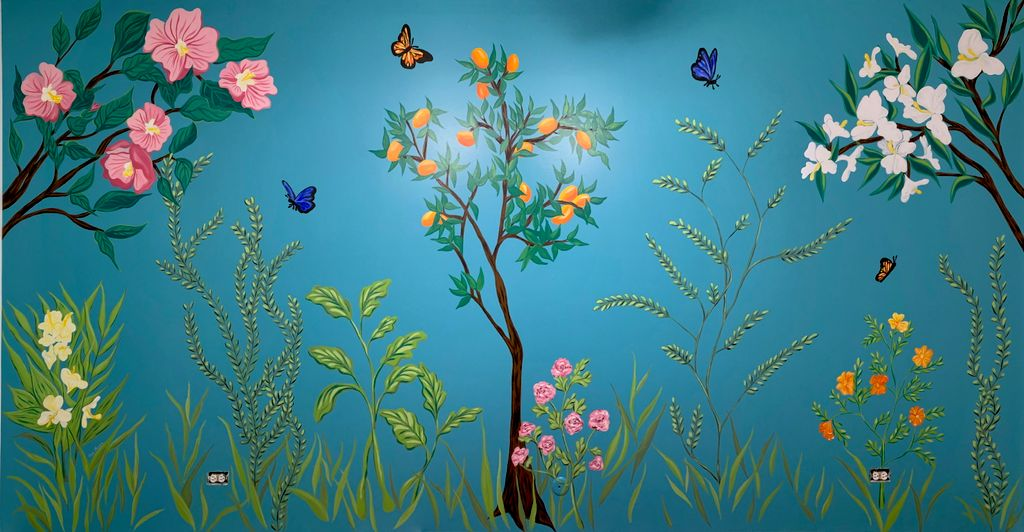 Floral Mural inspired by movie