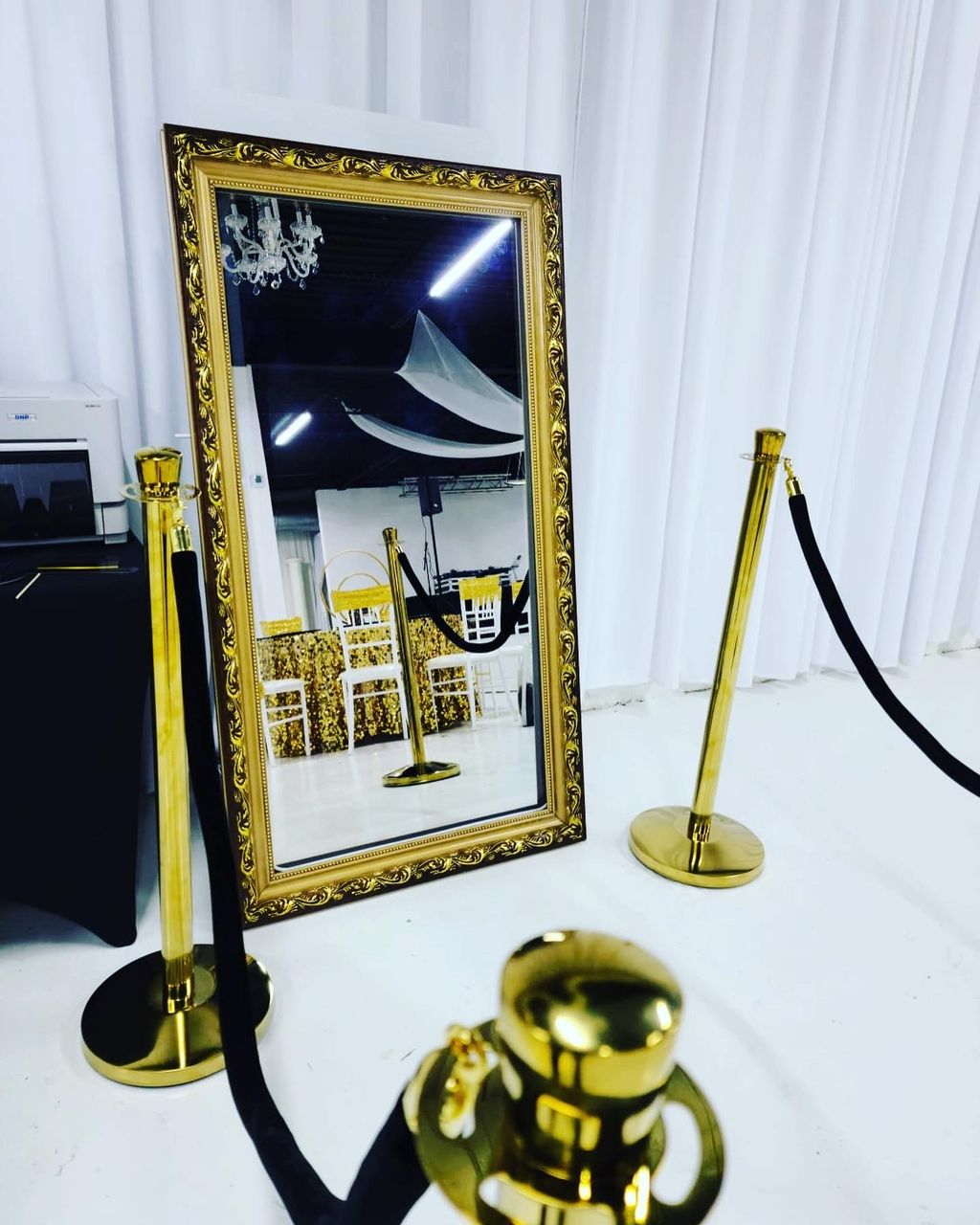 Black and Gold themed 40th birthday