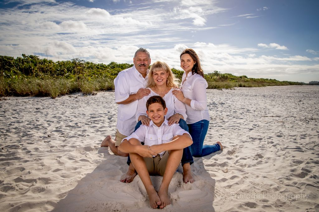 Family Beach and Surprise Engagement Photoshoot