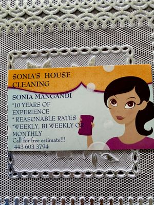 Avatar for Sonia's cleaning services