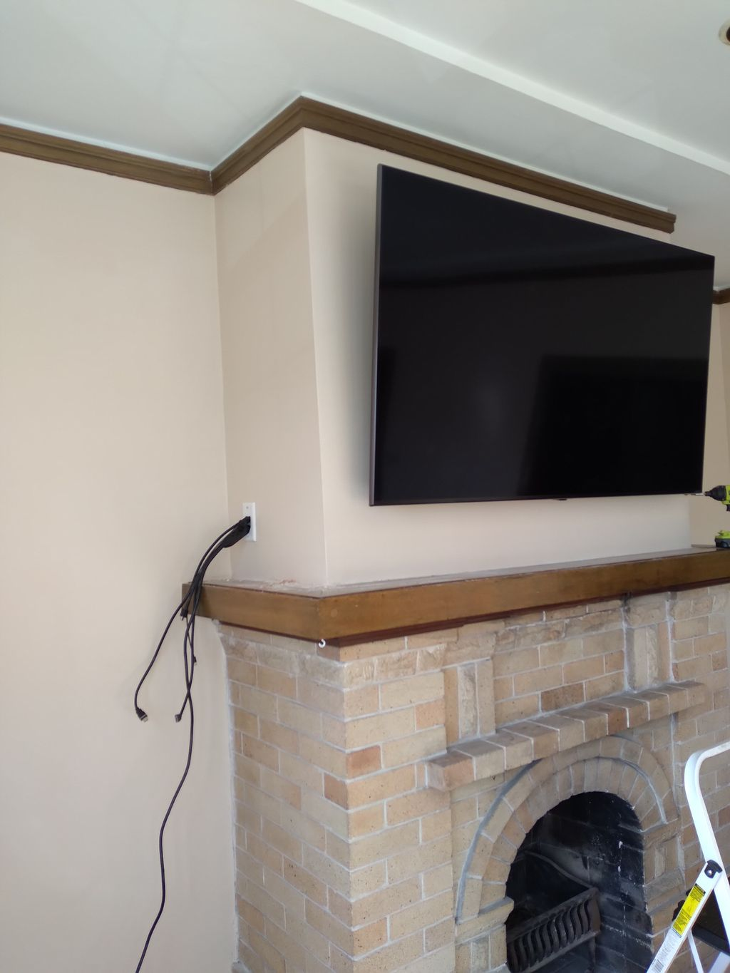 Mounting tv 65 above fireplace