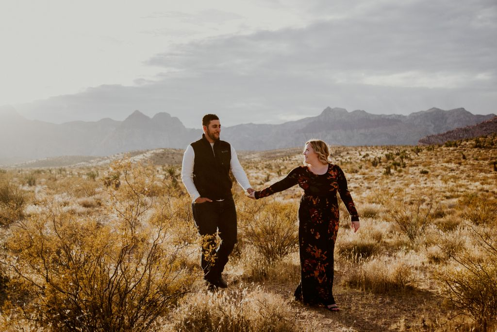 Red Rock Engagement & Pup