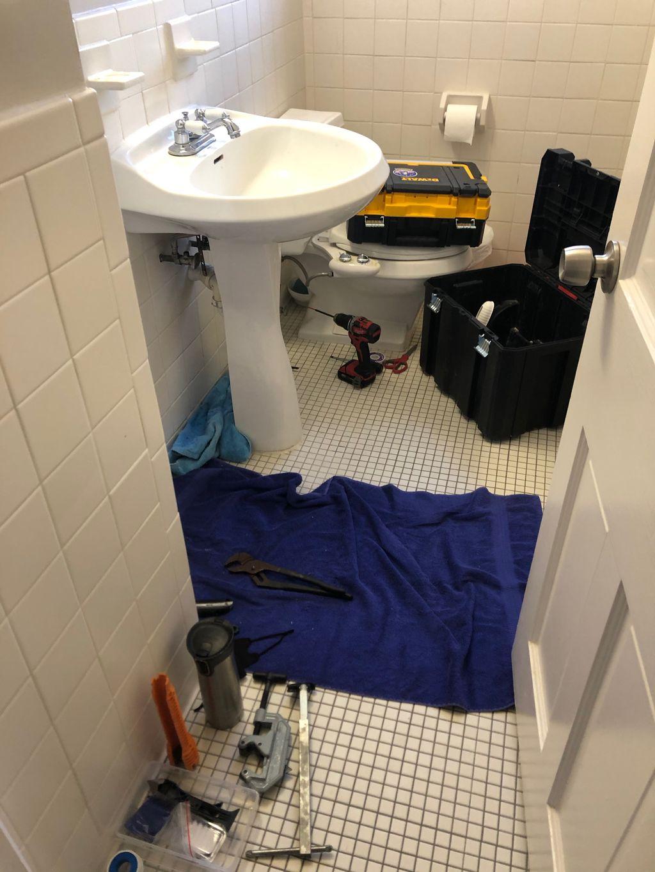 Pedestal-to-vanity sink conversion