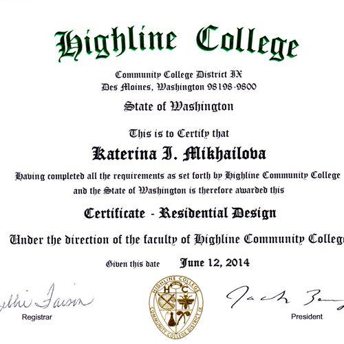 Kate's Residential Design Certificate