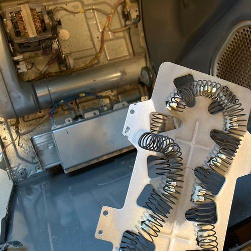 Heating element replacement, Samsung dryer