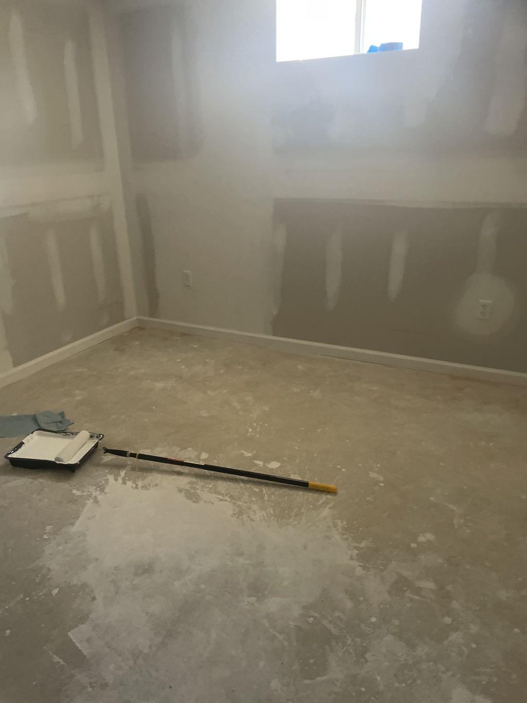 Paint walls and lay laminate flooring
