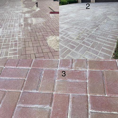 Start to finish paver sanding