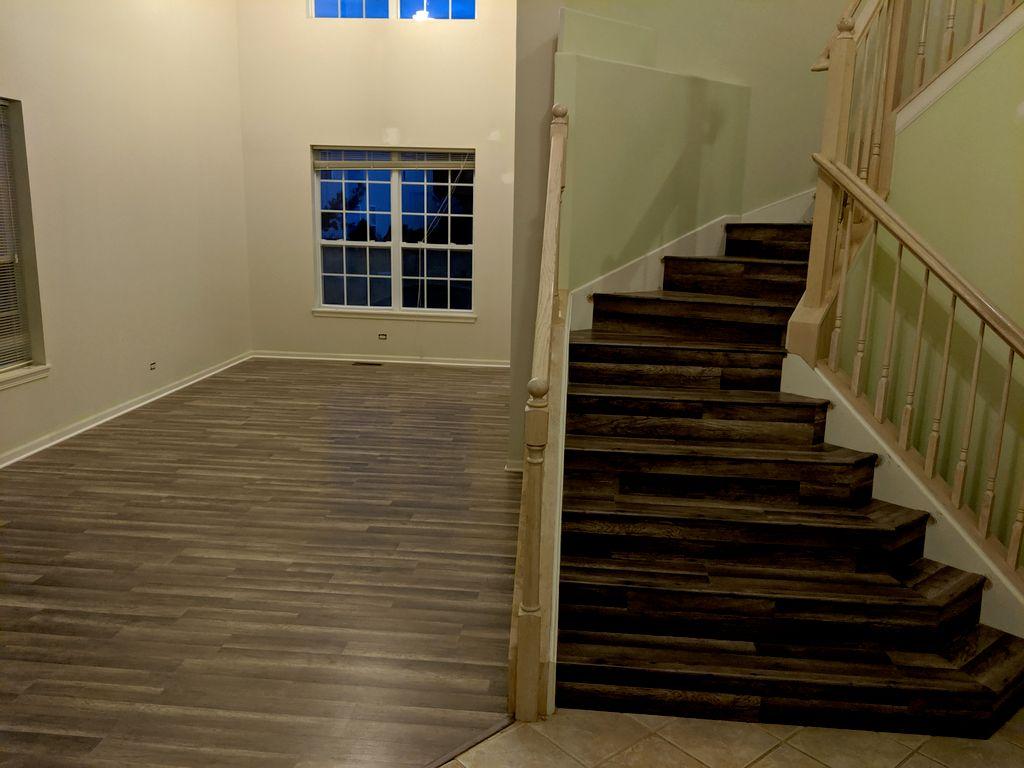 Custom vinyl stairs