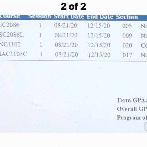 Helped B with Math, English and AP courses and we achieved...