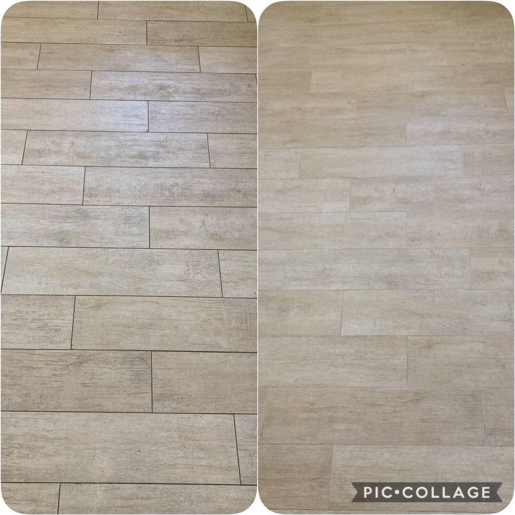 Floor cleaning and titanium color seal