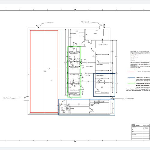 City approved Floor plans