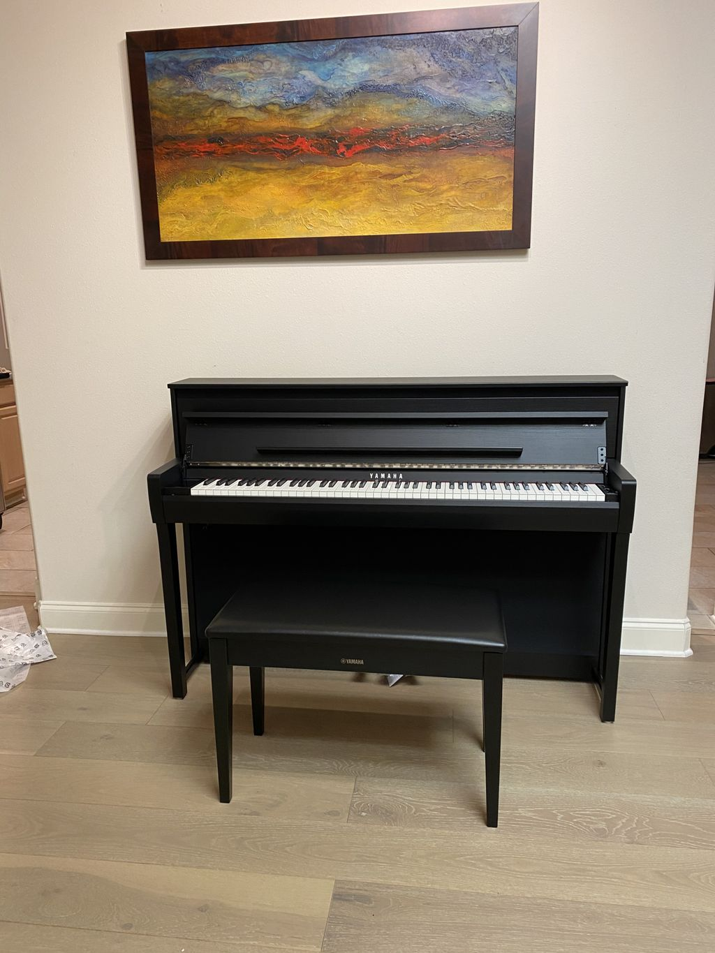 Piano with the bench