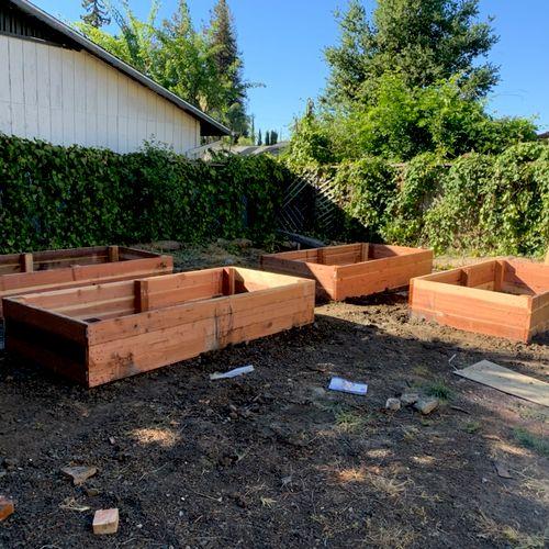 After making designed planters