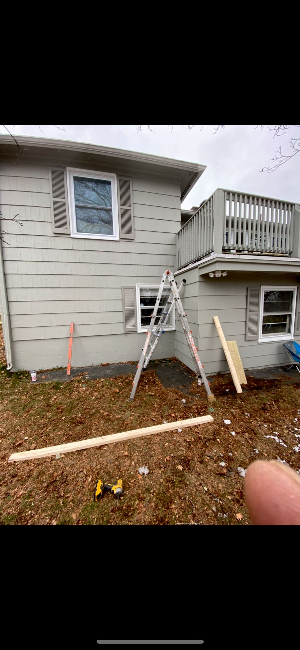 Install a new set of stairs to deck
