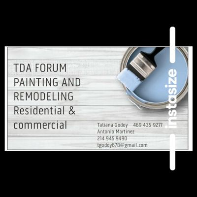 Avatar for TDA FORUM PAINTING AND REMODELING