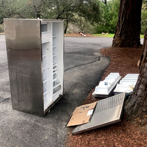 450LBS Fridge before removal