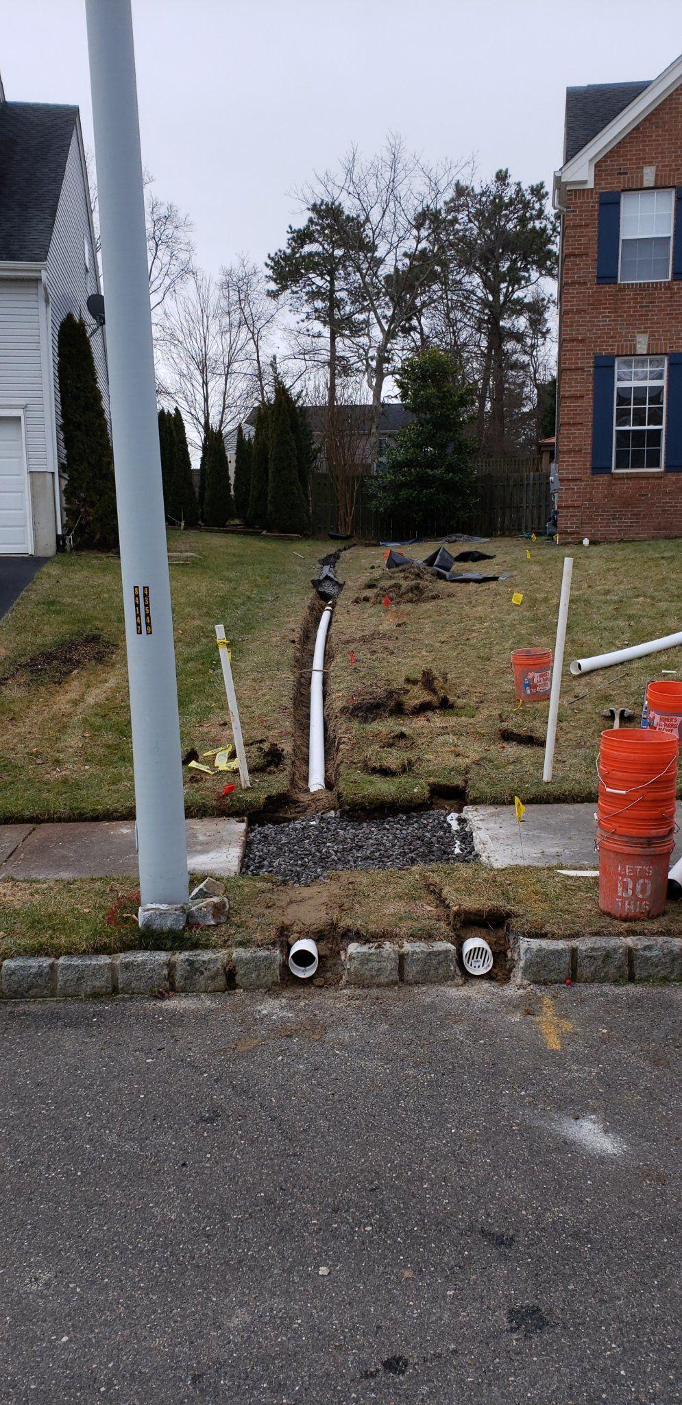 underground gutter drainage