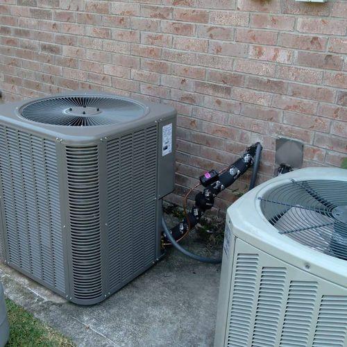 New AC condensing unit