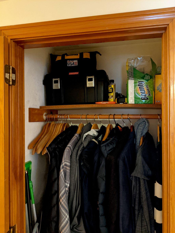 Closet to pantry conversion