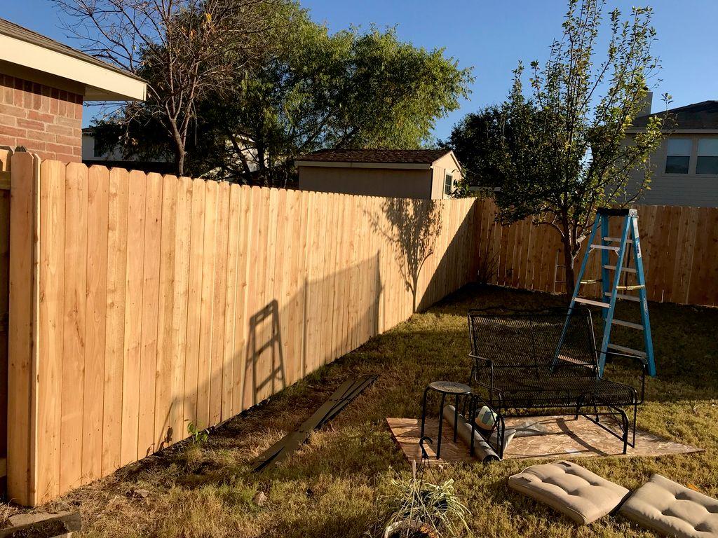 6 foot side by side cedar