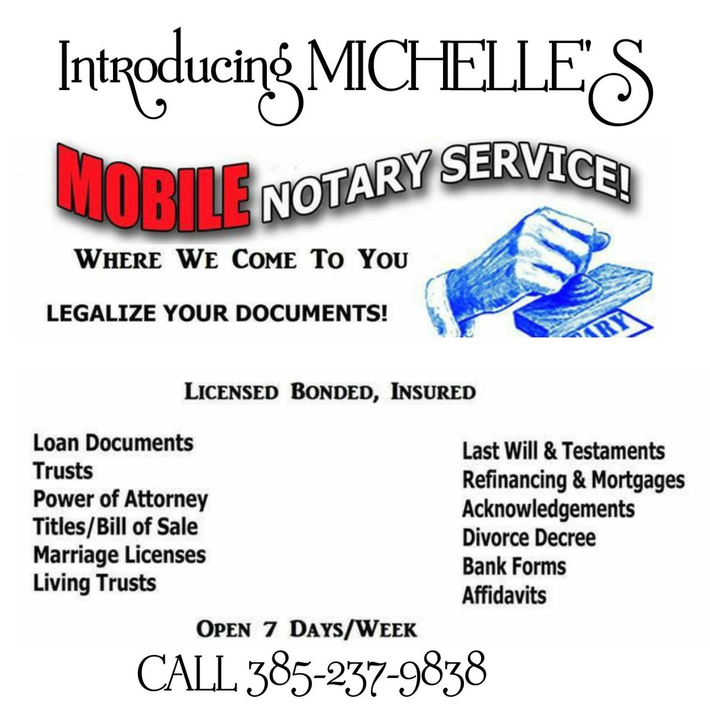 Michelle's Mobile Notary & Signing Agent Services